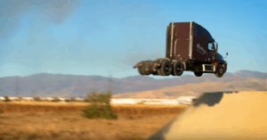 big rig truck world record jump