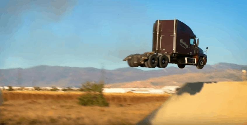 big rig truck world record jump