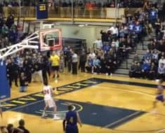 high school senior buzzer beater basketball shot