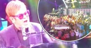 Elton John storms off stage