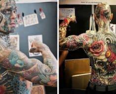 teacher covered body tattoos