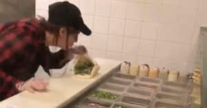 employee spits customers food video