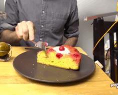 Rube Goldberg cake dessert