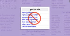 craigslist shuts down personals sections