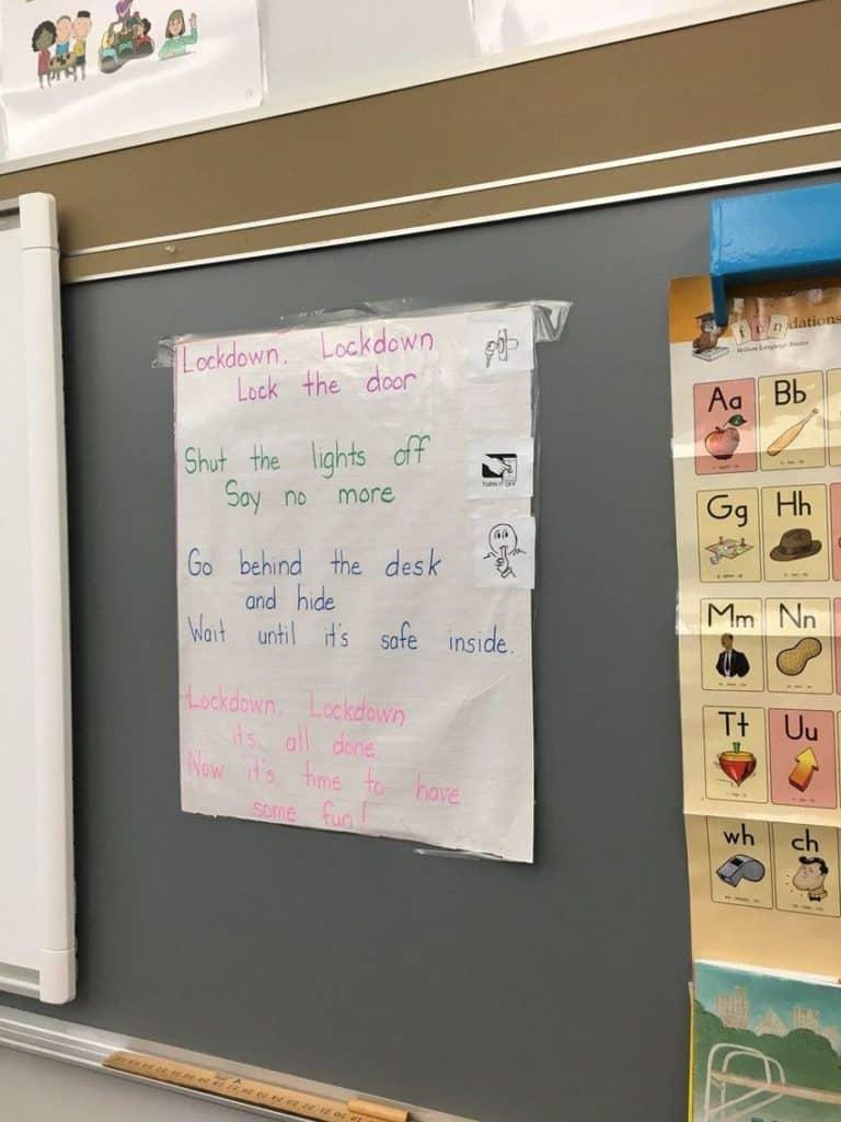 school lockdown nursery rhyme