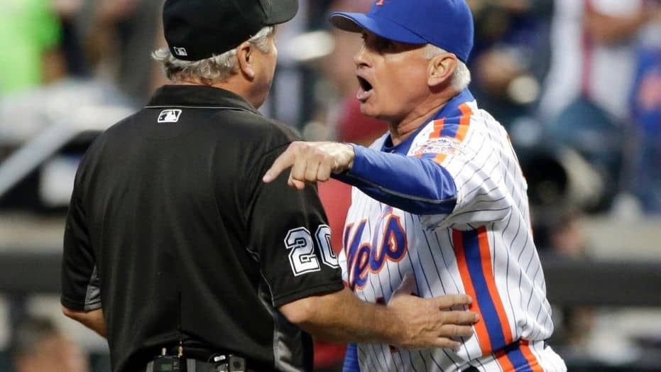 Terry Collins leaked video umpire mlb