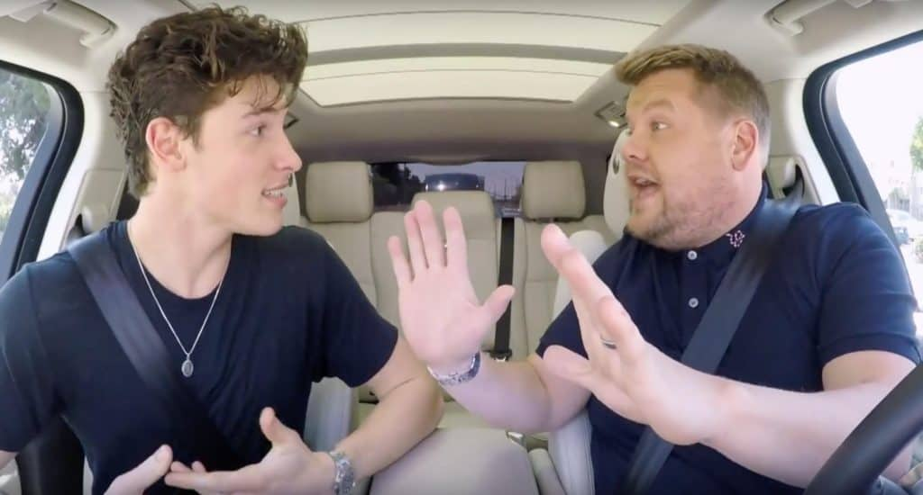 shawn mendes carpool karaoke james corden