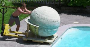 2000 pound bath bomb swimming pool