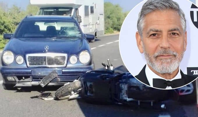 George Clooney motorcycle accident